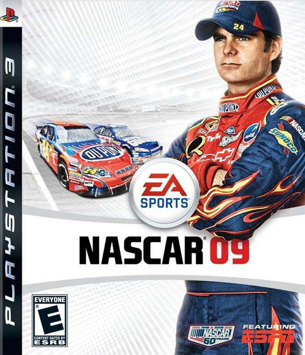 NASCAR 09 Video Game Back Title by WonderClub
