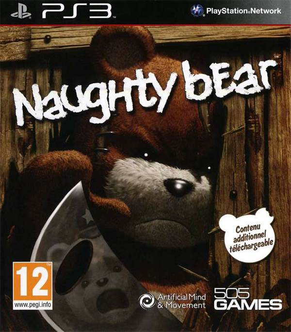 Naughty Bear Video Game Back Title by WonderClub