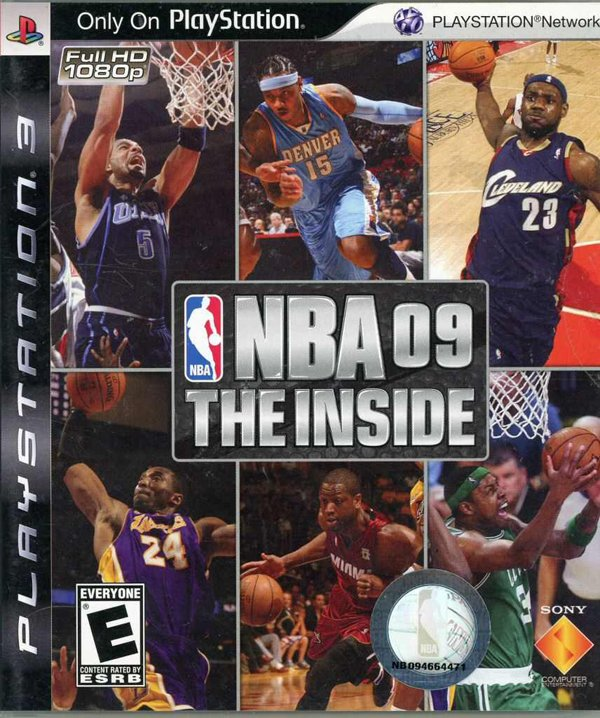 NBA 09: The Inside Video Game Back Title by WonderClub