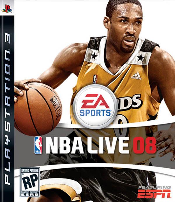 NBA Live 08 Video Game Back Title by WonderClub