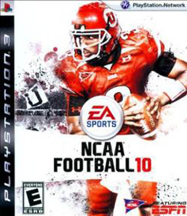 NCAA Football 10 Video Game Back Title by WonderClub