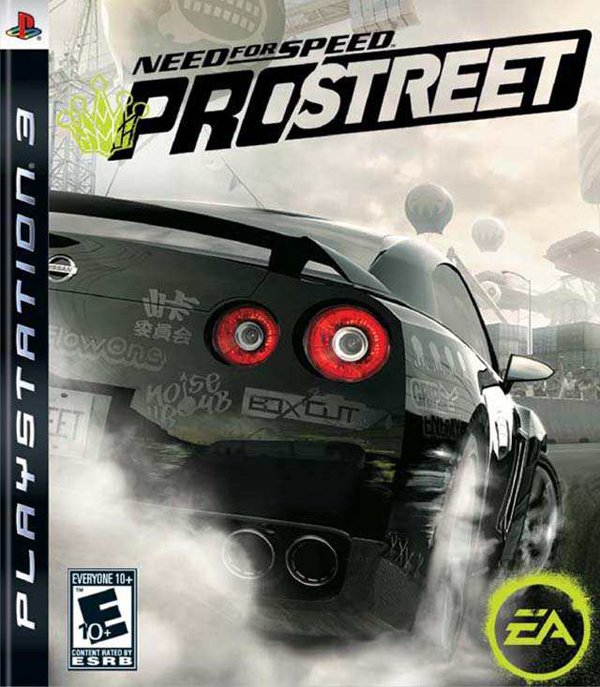Need For Speed: ProStreet Video Game Back Title by WonderClub