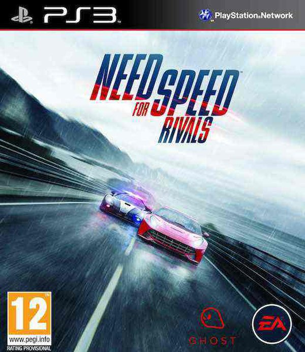 Need For Speed Rivals Video Game Back Title by WonderClub