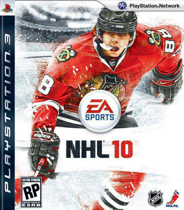 NHL 10 Video Game Back Title by WonderClub