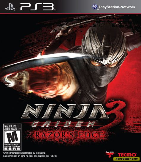 Ninja Gaiden 3: Razor's Edge Video Game Back Title by WonderClub