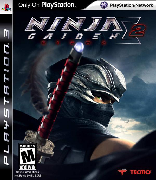 Ninja Gaiden Sigma 2 Video Game Back Title by WonderClub
