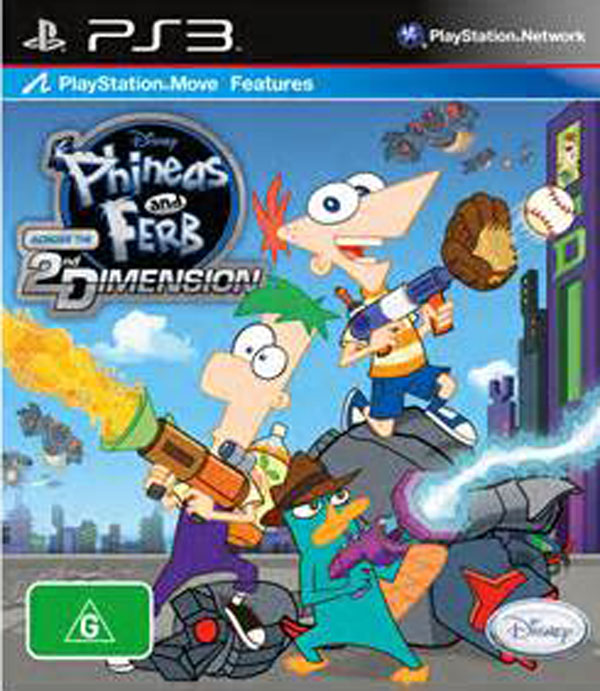 Phineas And Ferb: Across The 2nd Dimension Video Game Back Title by WonderClub
