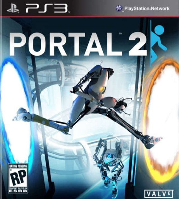 Portal 2 Video Game Back Title by WonderClub