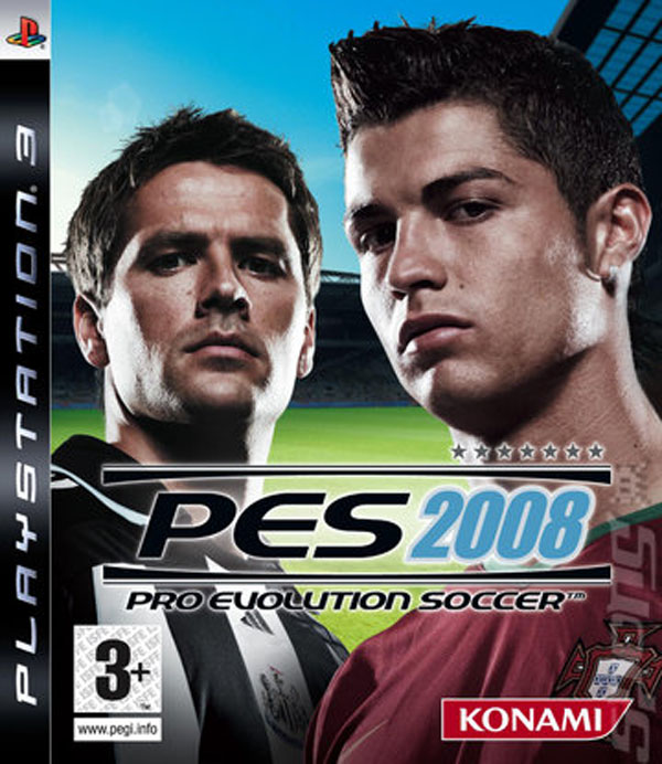 Pro Evolution Soccer 2008 Video Game Back Title by WonderClub