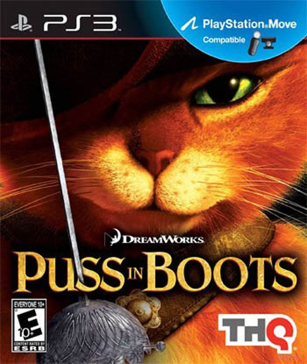 Puss In Boots Video Game Back Title by WonderClub