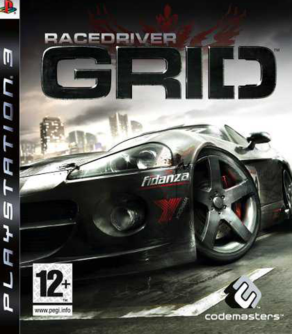 Race Driver: Grid Video Game Back Title by WonderClub
