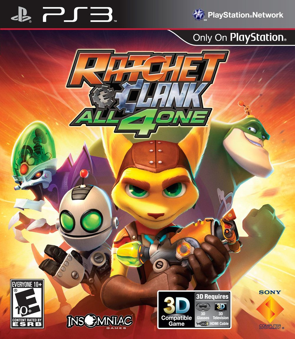 Ratchet & Clank: All 4 One Video Game Back Title by WonderClub
