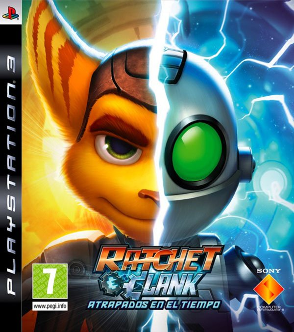 Ratchet & Clank Future: A Crack In Time Video Game Back Title by WonderClub