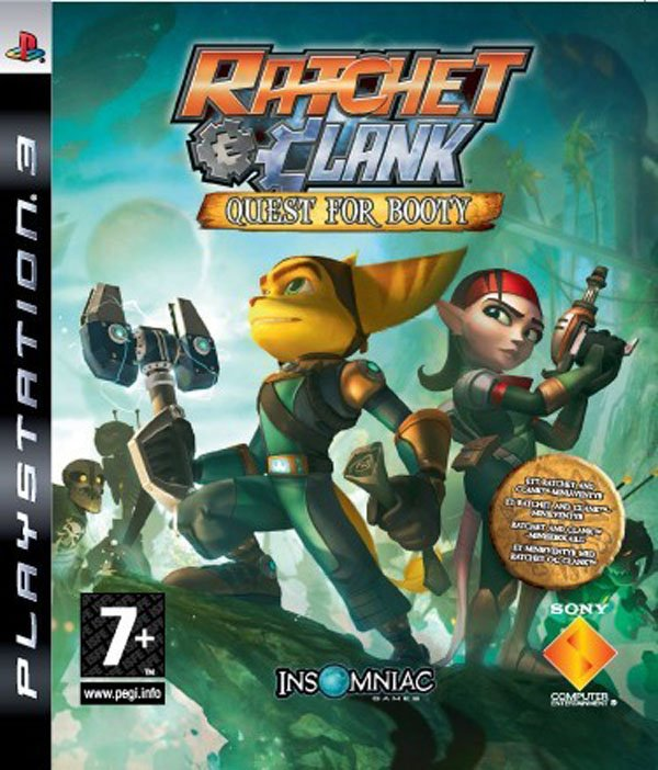 Ratchet & Clank Future: Quest For Booty Video Game Back Title by WonderClub