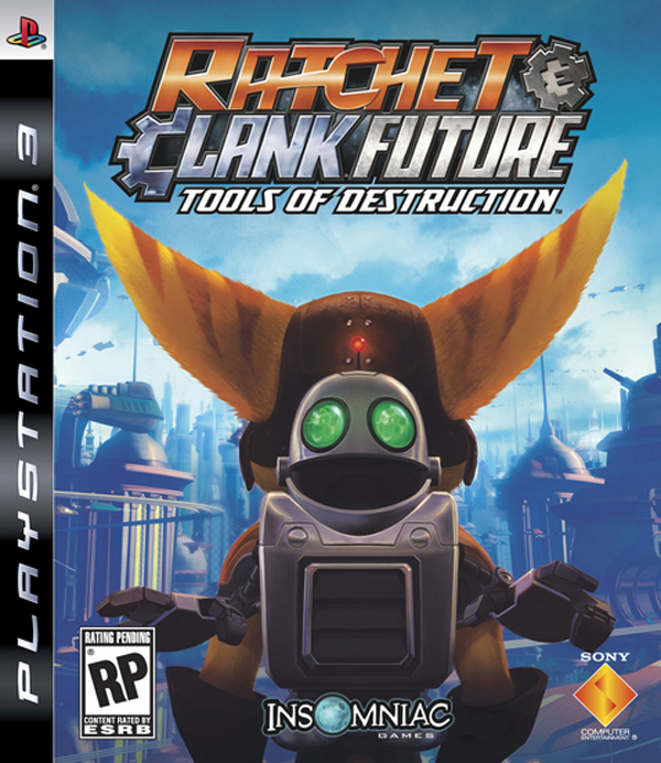 Ratchet & Clank Future: Tools Of Destruction Video Game Back Title by WonderClub