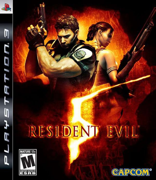 Resident Evil 5 Video Game Back Title by WonderClub