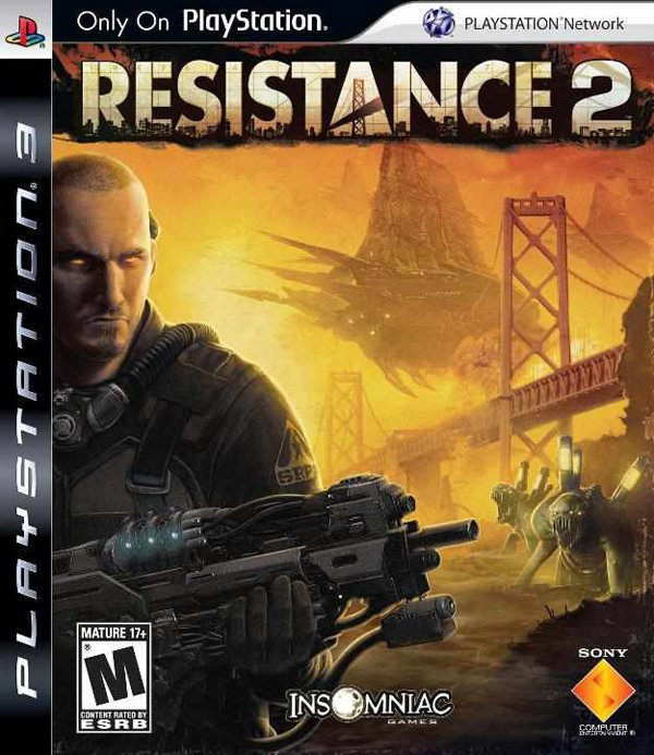Resistance 2 Video Game Back Title by WonderClub