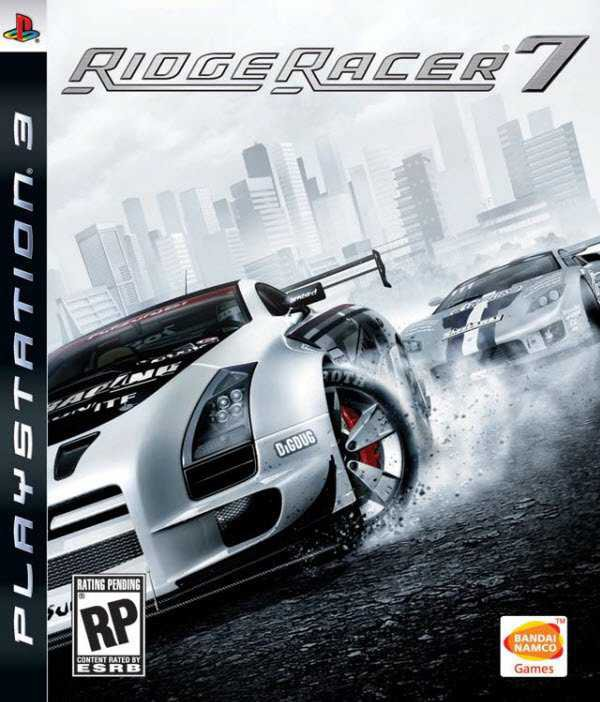 Ridge Racer 7 Video Game Back Title by WonderClub
