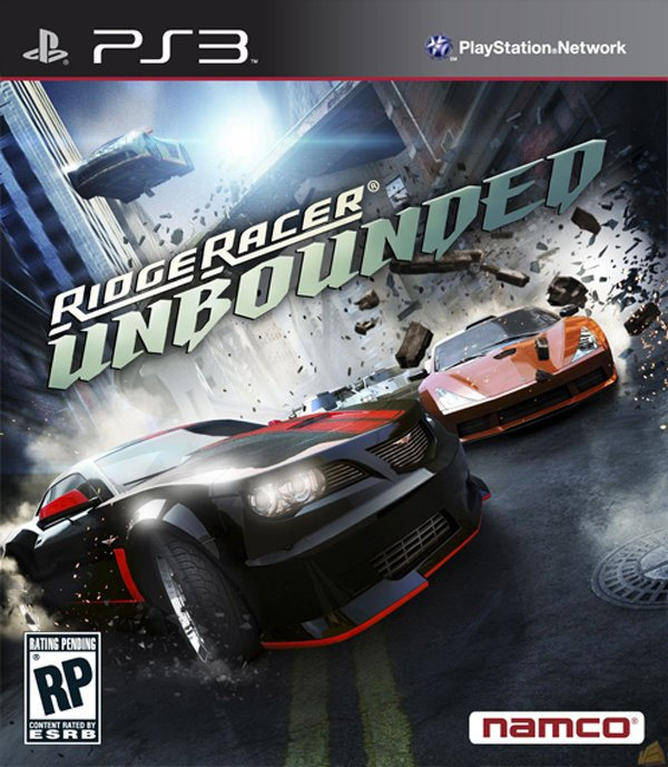 Ridge Racer Unbounded Video Game Back Title by WonderClub