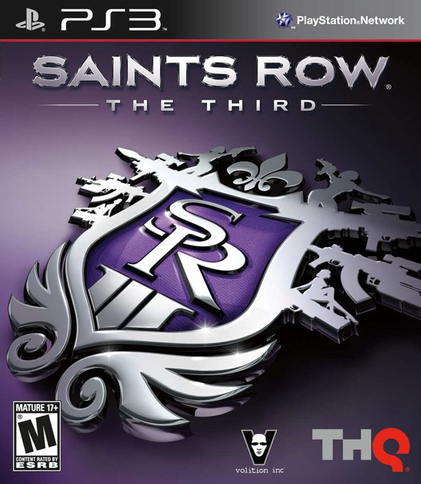 Saints Row: The Third Video Game Back Title by WonderClub