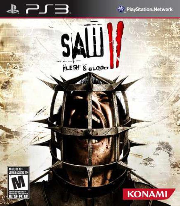 Saw II: Flesh & Blood Video Game Back Title by WonderClub