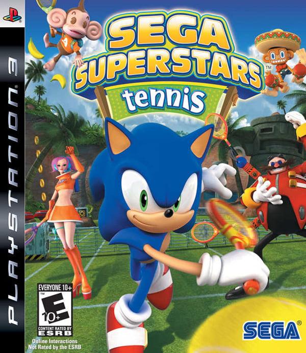 Sega Superstars Tennis Video Game Back Title by WonderClub