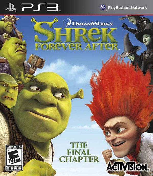 Shrek Forever After  Video Game Back Title by WonderClub