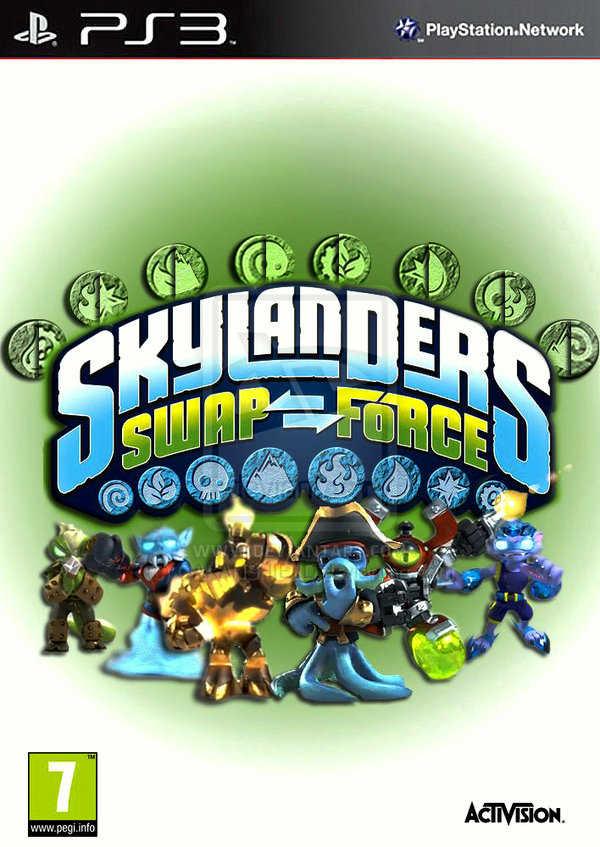 Skylanders: Swap Force Video Game Back Title by WonderClub