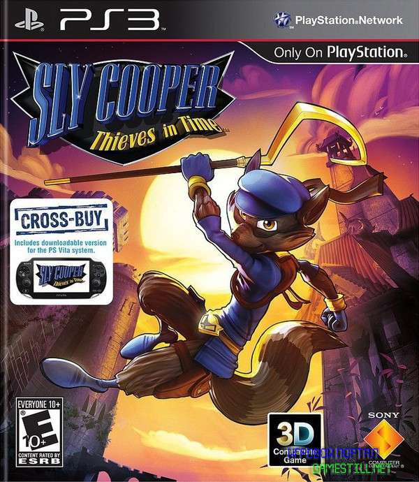 Sly Cooper: Thieves In Time Video Game Back Title by WonderClub
