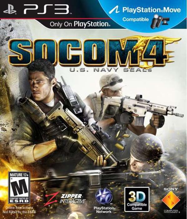 SOCOM 4: U.S. Navy SEALs Video Game Back Title by WonderClub