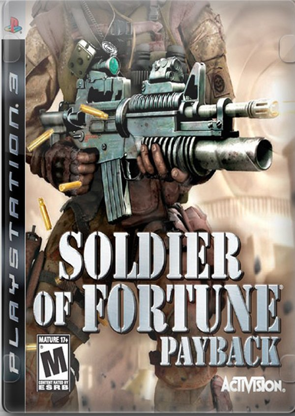 Soldier Of Fortune: Payback Video Game Back Title by WonderClub