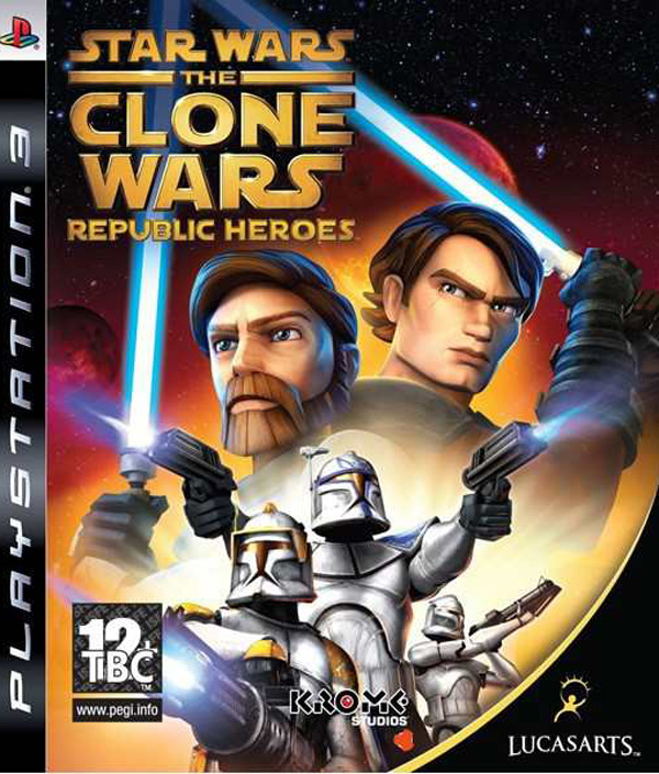 Star Wars: The Clone Wars – Republic Heroes Video Game Back Title by WonderClub