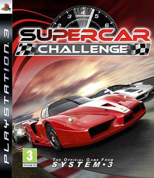 Supercar Challenge Video Game Back Title by WonderClub