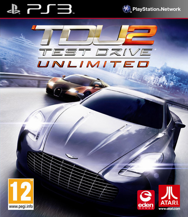 Test Drive Unlimited 2 Video Game Back Title by WonderClub
