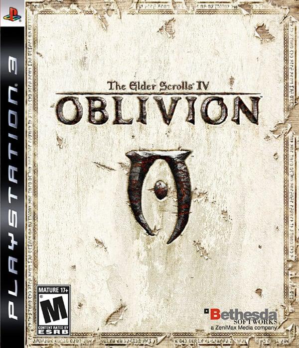 The Elder Scrolls IV: Oblivion Video Game Back Title by WonderClub