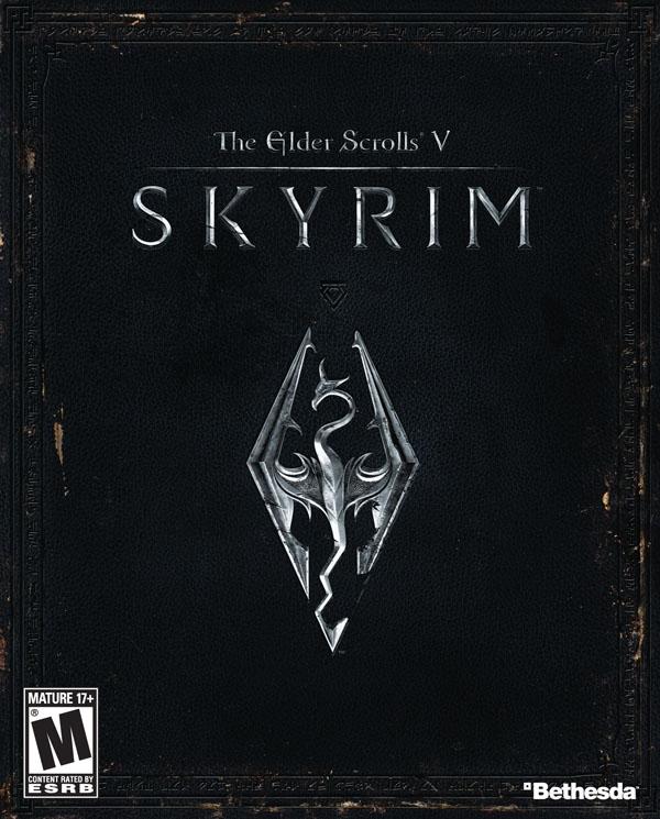The Elder Scrolls V: Skyrim Video Game Back Title by WonderClub