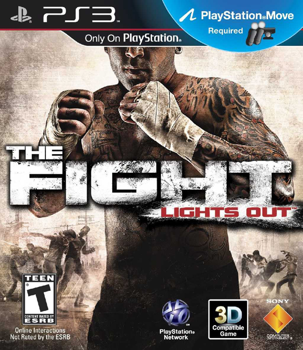 The Fight: Lights Out Video Game Back Title by WonderClub