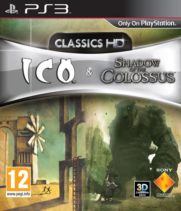 The Ico & Shadow Of The Colossus Collection Video Game Back Title by WonderClub