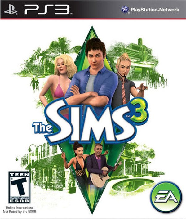 The Sims 3 (console Video Game) Video Game Back Title by WonderClub