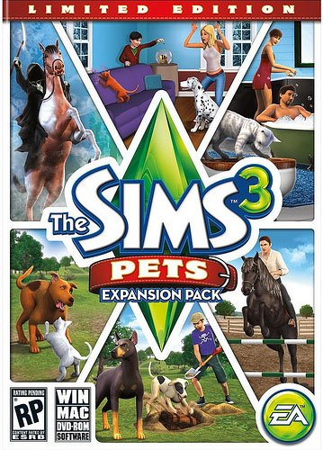 The Sims 3: Pets Video Game Back Title by WonderClub