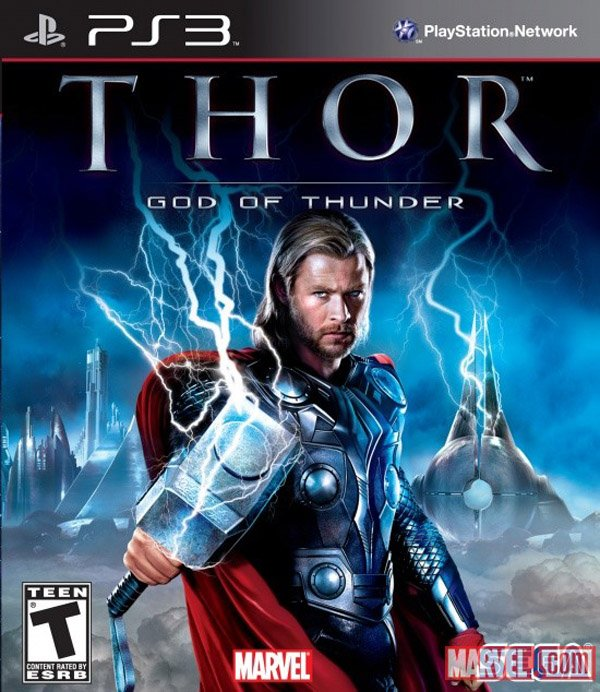 Thor: God Of Thunder Video Game Back Title by WonderClub