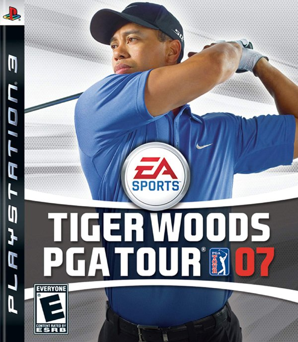 Tiger Woods PGA Tour 07 Video Game Back Title by WonderClub