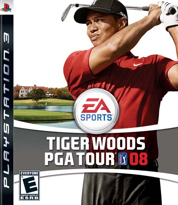 Tiger Woods PGA Tour 08 Video Game Back Title by WonderClub