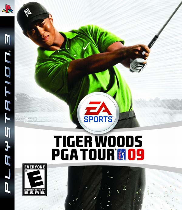 Tiger Woods PGA Tour 09 Video Game Back Title by WonderClub