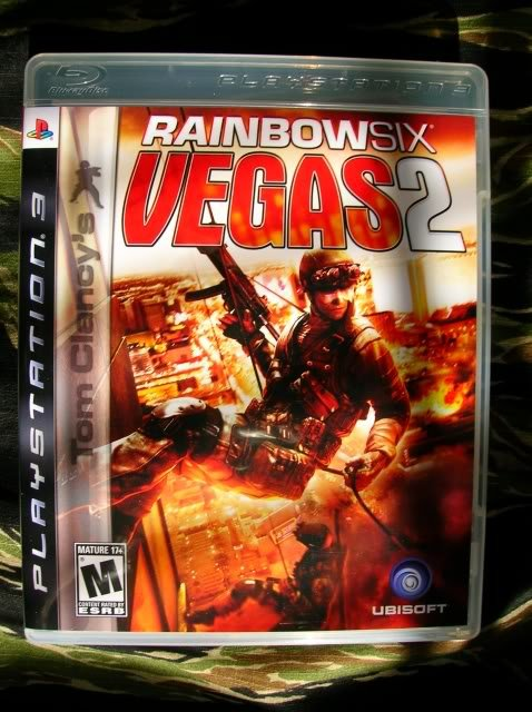 Tom Clancy's Rainbow Six: Vegas 2 Video Game Back Title by WonderClub