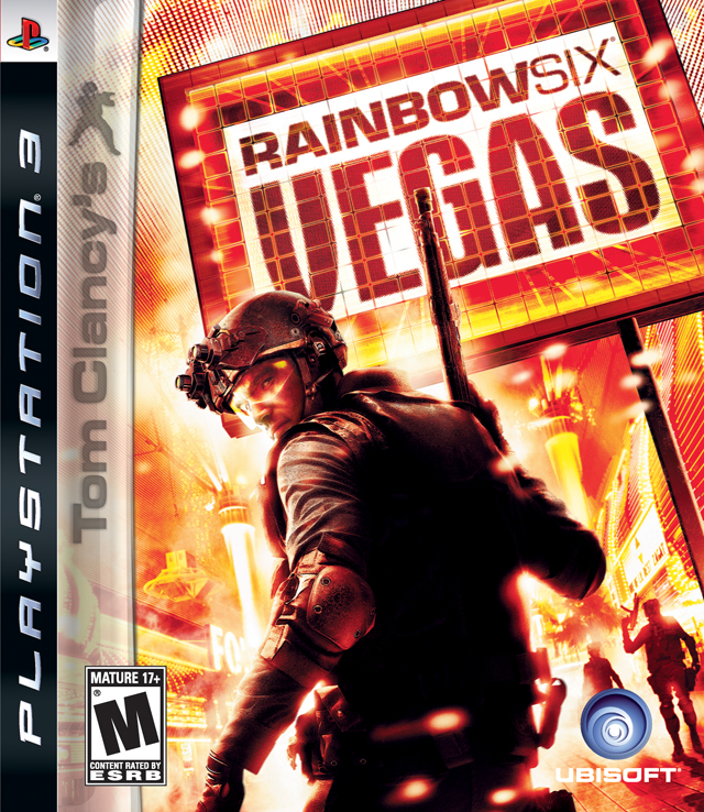 Tom Clancy's Rainbow Six: Vegas Video Game Back Title by WonderClub
