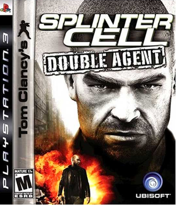 Tom Clancy's Splinter Cell: Double Agent Video Game Back Title by WonderClub