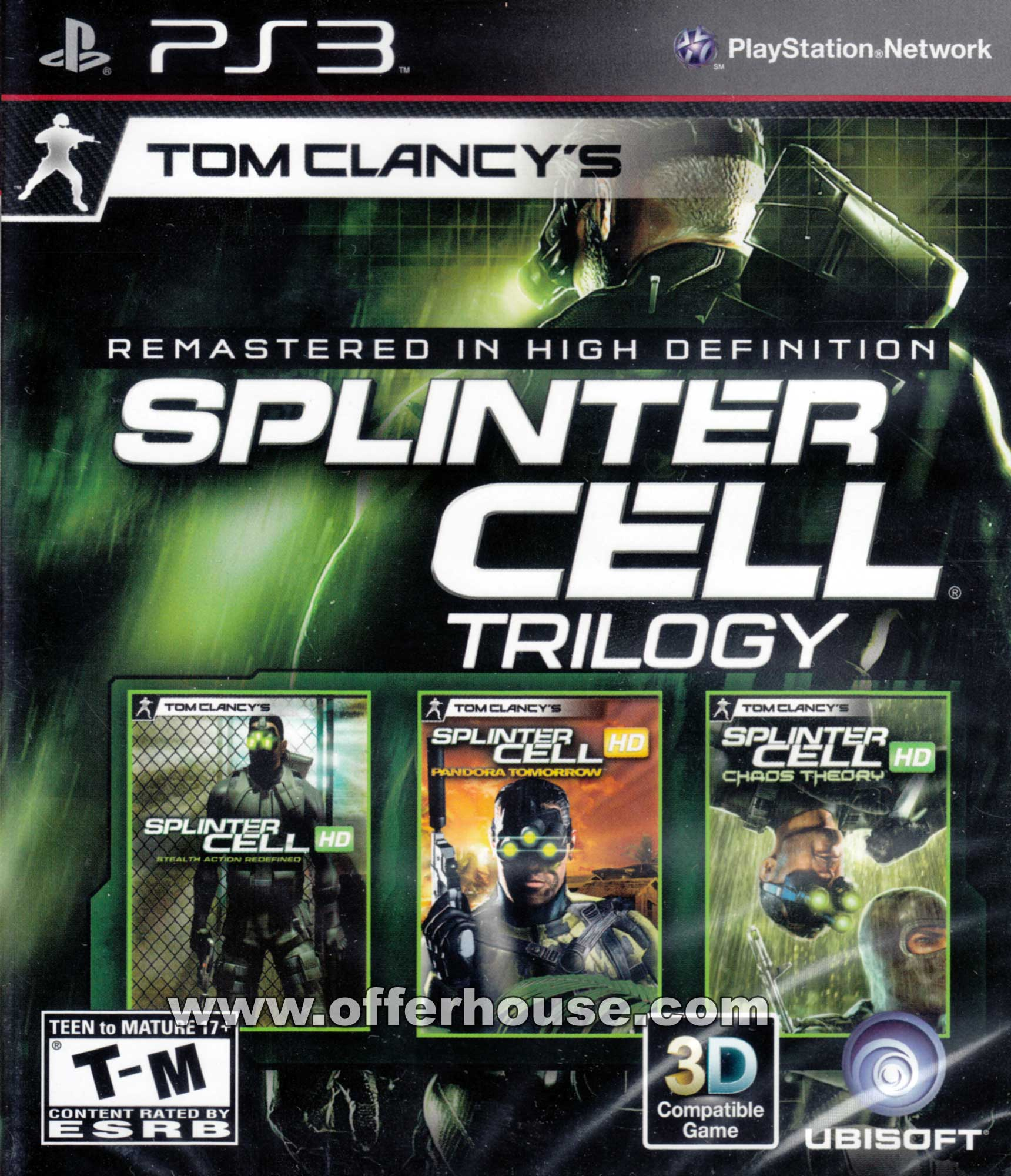 Tom Clancy's Splinter Cell Video Game Back Title by WonderClub