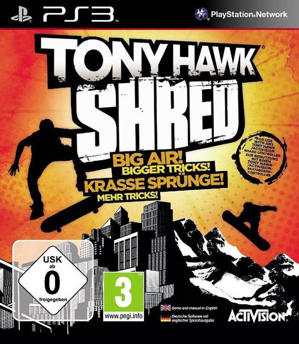 Tony Hawk: Shred Video Game Back Title by WonderClub