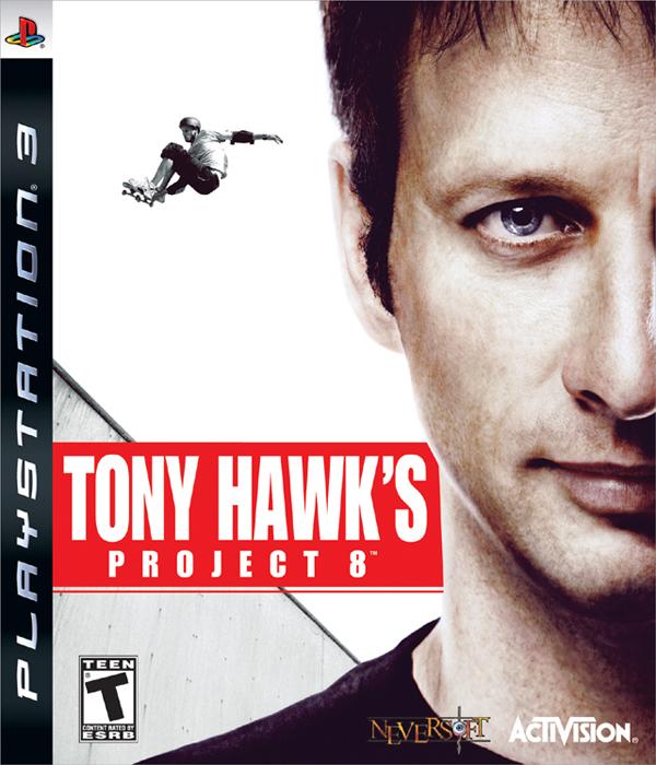 Tony Hawk's Project 8 Video Game Back Title by WonderClub